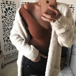 FLOAT Fuzzy Blanket Soft Cardigan Sweater